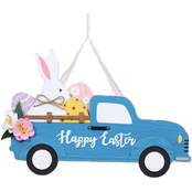 Gigi Seasons Happy Easter Pickup Truck Wall Hanger