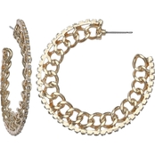 jules b Chain Link C Hoop Earrings