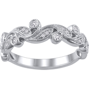 10K White Gold 1/8 CTW Diamond Anniversary Band