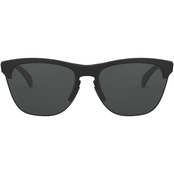 Oakley Lite Matte Black/Grey Round Sunglasses 0OO9374 937401