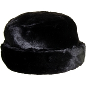 Nine West Faux Fur Black Cuff Cloche