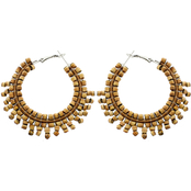Panacea Cork Jasper Hoop Earrings