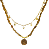 Panacea Wood And Drusy Layered Necklace