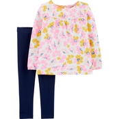 Carter's Toddler Girls 2 pc. Slub Jersey Top and Leggings Set
