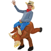 Gemmy Adult Bull Rider Inflatable Costume