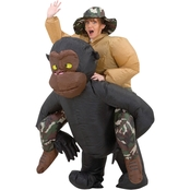 Gemmy Adult Inflatable Riding Gorilla Costume