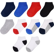 Boys Low Cut Pop Socks - 10 Pack