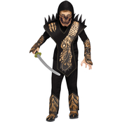 Fun World Child Skull Dragon Ninja Gold Costume