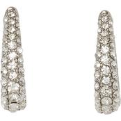 Vince Camuto Silvertone Crystal Pave Huggies