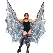 Leg Avenue Women's Spiderweb Halter Wing Cape
