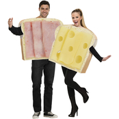 Fun World Adult Ham and Swiss Couples Costume