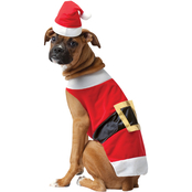 Rasta Imposta Santa Dog Costume Large