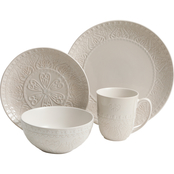 Gibson Elite Milanto Dinnerware Set Cream