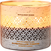 Bath & Body Works Luminary Woods: 3 Wick Candle Marshmallow Fireside