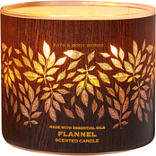 Bath & Body Works Luminary Woods: 3 Wick Candle Flannel