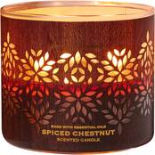 Bath & Body Works Luminary Woods: 3 Wick Candle Spiced Chesnut