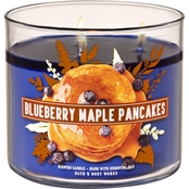 Bath & Body Works Pumpkin Blueberry Maple Pancakes 3 Wick Candle