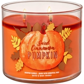 Bath & Body Works Pumpkin Sweet Cinnamon Pumpkin 3 Wick Candle