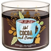 Bath & Body Works Pumpkin Hot Cocoa and Cream 3 Wick Candle