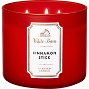 Bath & Body Works White Barn Cinnamon Stick 3 Wick Candle