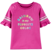 Carter's Girls Rainbow Is My Favorite Color Flutter Tee