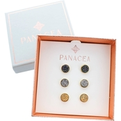 Panacea Compressed Drusy Stud Set