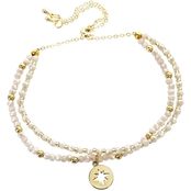 Panacea Ivory Crystal Bracelet with Adjustable Slide Back