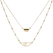 Panacea Pre-Layered Glitter Quartz Necklace