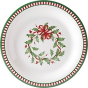 Lenox Holiday Melamine Striped Dinner Plate 4 pc. Set