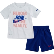 Nike Little Boys 2 pc. Heroes Tee and Short Set