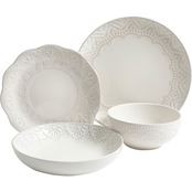 Gibson Elite Pure Elegance 16 pc. Dinnerware Set