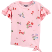 OshKosh B'Gosh Toddler Girls Side Tie Floral Top