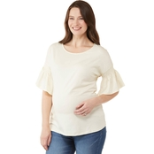 Planet Motherhood Maternity Smocked Bell Sleeve Tee