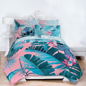 Disney Lilo & Stitch Floral Fun Queen Bed Set