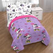 Minnie Mouse Purple Love Full Bed Set