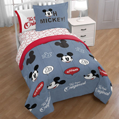 Mickey Mouse Patches Twin Bed Set