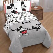 Mickey Mouse Jersey Classic Twin Bed Set
