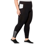 Avenue Plus Size Active Leggings with Perforated Trim