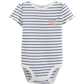 OshKosh B'Gosh Infant Girls Striped Rib Bodysuit