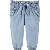 OshKosh B'Gosh Infant Girls Denim Ruffle Pants