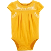 OshKosh B'Gosh Infant Girls Embroidered Floral Bodysuit