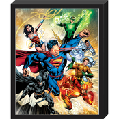 Justice League Molded Shadowbox