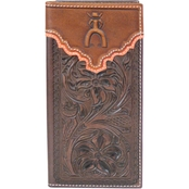 Hooey Brands Punchy Signature Tooled Rodeo Wallet