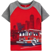Carter's Toddler Boys Fire Truck Raglan Tee