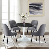 Steve Silver Colfax Black Marquina Marble 5 pc. Dining Set