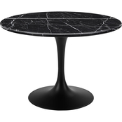 Steve Silver Colfax Black Marquina Marble Dining Table