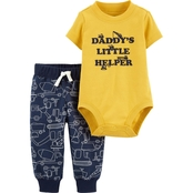 Carter's Infant Boys Construction Bodysuit and Pants 2 pc. Set