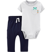 Carter's Infant Boys Monster Bodysuit Pants 2 pc. Set
