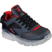 Skechers Boy's Arctic Tron Lace Up Lighted Sneaker with Clear Bottom