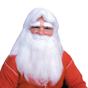 Rubie's Costume Adult Santa Wig and Beard Headdress Set